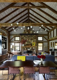 Litchfield County, Barn Living, Modern Farmhouse, Living Spaces, Dining Room, Interior Design, Luxury, Photography, Connecticut
