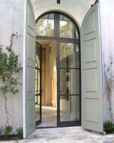 W Bridge House Steel Doors Shutters Architecture Shutter Doors Door Design, Exterior Design, Interior And Exterior, House Design, Design Hotel, Loft Interior, Craftsman Interior, Craftsman Style, Kitchen Interior