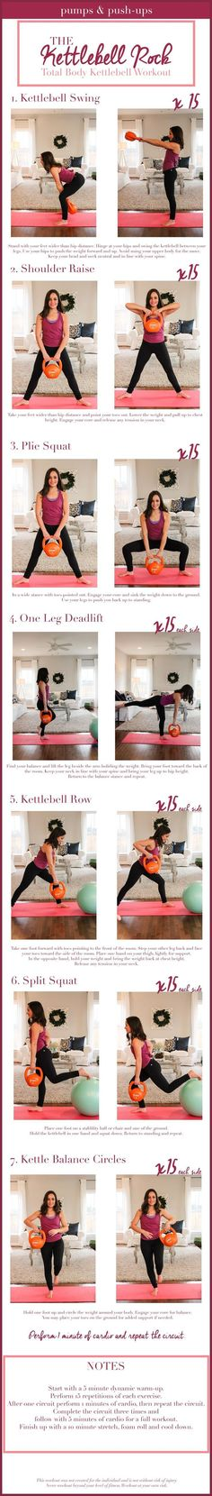 Fitness Articles Tips and Workouts: Kettlebell workout - at home workout using a stabi...