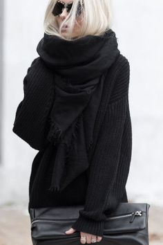 oversize black scarf Fall Fashion Trends 28a955b555d5