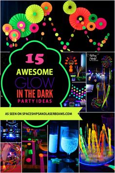 15 Awesome Glow-In-The-Dark Party Ideas - Spaceships and Laser Beams