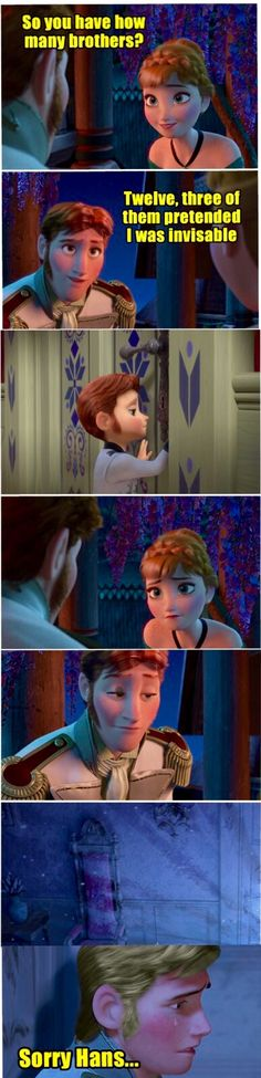 Omg! What if one of Hans brothers had ice powers like Elsa?!?! (I like how baby Hans still has sideburns)