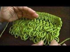 Instrucciones del punto rulo o bucle tejido en dos agujas o palillos Crochet Tools, Crochet Chart, Diy Crochet, Crochet Doilies, Knitting Videos, Crochet Videos, Knitting Stitches, Hand Knitting, Knitting Patterns