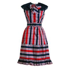 1960's Oscar de la Renta Plaid-Silk Belted Mod Babydoll Dress