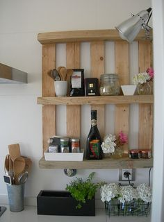 Pallet Cabinet Ideas | Wooden pallets as furniture | Ideas for Home Garden Bedroom Kitchen ...