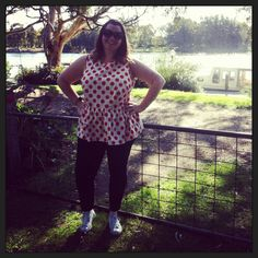 Plus size peplum from ASOS Curve. Aussie Curves challenge
