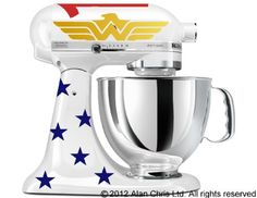 Would love this for my mixer Wonder Woman Inspired Decal Kit for your by GoodMommyLtd on Etsy Mixer Accessories, Kitchen Accessories, Kitchenaid Stand Mixer, Wonder Woman, Mixers, Silhouette Projects, Kitchen Aid Mixer, Kitchen Gadgets, Cooking Gadgets