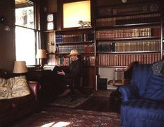 Rudyard Kipling in his study in Naulakha.