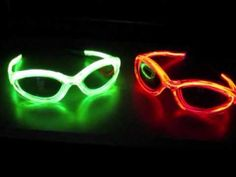 EL Wire Glowing Glasses http://glowproducts.com/batteryoperated/strobesunglasses/