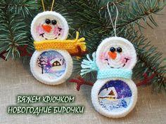 Вяжем крючком новогодние бирочки для подарков   Ярмарка Мастеров - ручная работа, handmade