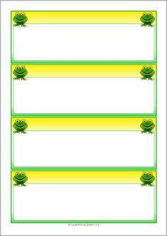 Frog-themed editable communication slips (SB10328) - SparkleBox