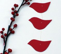 red paper bird wall hanging mobile ~ red or gray art Blowin' In The Wind, Christmas Crafts, Christmas Decorations, Paper Birds, Grey Art, Hanging Mobile, Red Paper, Wall Hangings, Mobiles