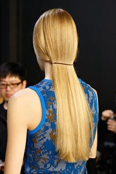 elastic band used for simple modern ponytail
