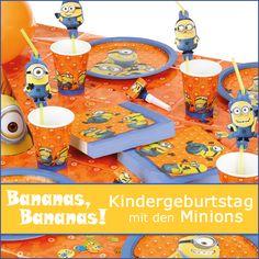 Partyzubehör Minions Kindergeburtstag