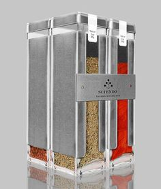 Sciendo Spices. Calling all cooks. Nice spice packaging. PD: