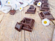 Orecchini pendenti con Cioccolato. Regalo per lei, regalo per amica di CibHandmade su Etsy