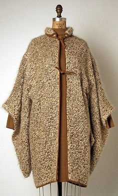 Bonnie Cashin - tweed cape with suede trim 1964