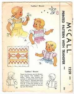 McCall 1259 Photocopy of Vintage 40s Adorable by PatternPlaying