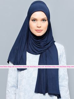 Abbigliameto Halal Islamico Negozio Online  #islamic #hijab #modest #fashion product  Jersey Combed Cotton Shawl- Navy Blue - Rabia Z - Fabric Info:  100% Combed Cotton    Weight: 0.226 kg  Sizes:  Width: 75 cm  Height: 200 cm - SKU: 142484. Buy now at http://muslimas-shop.com/jersey-combed-cotton-shawl-navy-blue-rabia-z142484.html