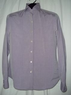 Womens Faconnable L/S Solid Purple Button Front Shirt Size: M #Faonnable #ButtonDownShirt