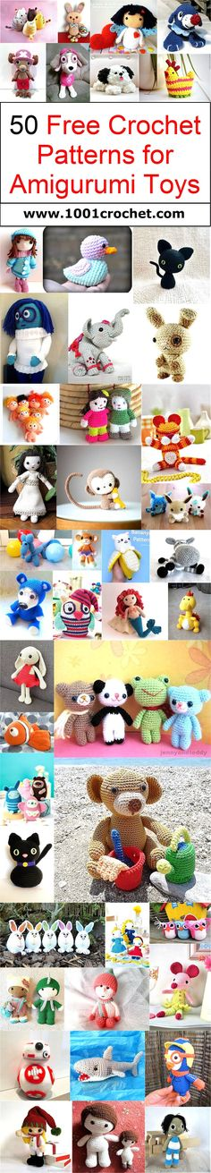 Today again we have come up with 50 free crochet patterns for amigurumi toys, and trust me this time again your kids are just going to love you for these awesome crocheted creations.                                                                                                                                                                                 More