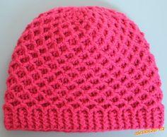 HÁČKOVÁNÍ - Zimní čepice s plastickým vzorem