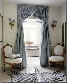 I saved this image when we were waiting to move into our current house. I pictured something dramatic like this going into our closet from the bedroom via cotedetexas.blogspot.com