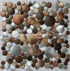 Round mosaic tile,round shape aluminium mosaic tile