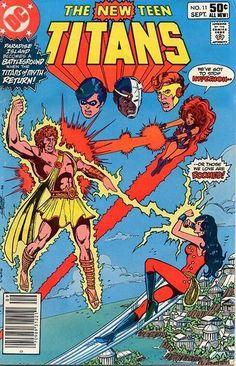 THE NEW TEEN TITANS 11. TEEN TITANS VS. THE TITANS. MARV WOLFMAN, GEORGE PEREZ, DC COMICS