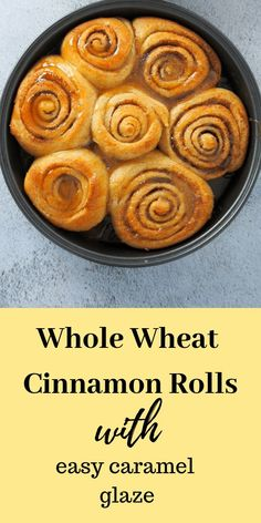 These Whole Wheat Cinnamon Rolls are just as delicious, tasty and soft like their regular counterparts. You will love them because they are so delicate, flavorful and light. Best Dessert Recipes, Fun Desserts, Sweet Recipes, Breakfast Recipes, Yummy Recipes, Healthy Recipes, Healthy Cinnamon Rolls, Tasty, Yummy Food
