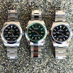 "Today's ""meeting "" AIR KING 40mm Ref 116900 MILGAUSS 40mm Ref 116400GV E... | http://ift.tt/2cBdL3X shares Rolex Watches collection #Get #men #rolex #watches #fashion"