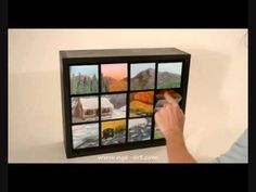 Amazing Interactive Painting of a mountain scene changes seasons - YouTube