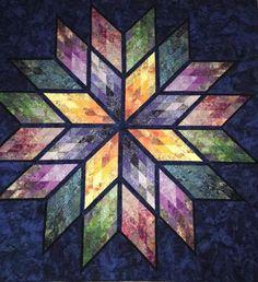 Prismatic Star, Quiltworx.com, Made by Lotus Fabrics