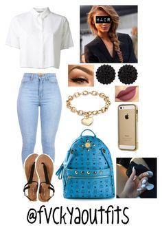 """""""Untitled #990"""" by fashionkillas ❤ liked on Polyvore featuring T By Alexander Wang, sweet deluxe, Blue Nile, MCM, Wet Seal and Marchesa"""