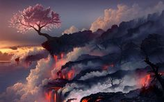 Lava flow wallpaper