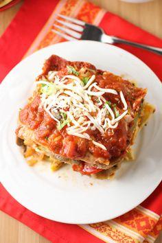 Roasted Vegetable Lasagna (love the sauce and veggie ideas. Rice lasagna?)