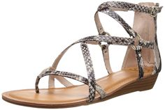 Fergalicious Women's Dylan Wedge Sandal => Additional details found at the image link  : Strappy sandals