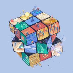 """Check out this @Behance project: """"RUBIX // for KreativesHaus"""" https://www.behance.net/gallery/41960659/RUBIX-for-KreativesHaus"""
