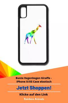 Bestelle dir jetzt die neuste Handyhülle! Zum Beispiel für dein iPhone X/XS mit buntem Giraffen Design oder gestalte dir dein eigenes Produkt   Klicke jetzt auf den Link! #Giraffe #Handyhülle #iPhone #iPhoneX #spreadshirt #säugetiere #rainbowanimals #case #buntetiere #tiere