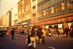 Woolies on Briggate Yorkshire England, West Yorkshire, Old Pictures, Old Photos, 1970s Looks, Leeds Castle, Leeds City, Old Street, Dance Hall