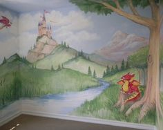 Cool Hand Painted Fantasy Boys Bedroom Wall Murals