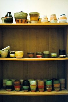 The tumblers on the bottom shelf are everything. shino takeda