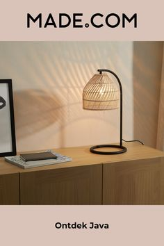 Rattan, Wicker, Java, Nightstand Lamp, Floating Nightstand, Natural Table Lamps, Soft Furnishings, Decoration, Finding Yourself