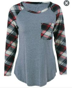 Long sleeve baseball style top