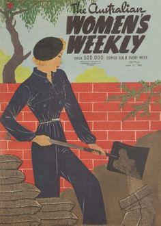 Issue: 11 Apr 1942 - The Australian Women's Weekly 1940s Fashion, Vintage Fashion, History Magazine, Magazine Illustration, Art Deco Posters, Australian Fashion, Vintage Magazines, Illustrations, Vintage Looks