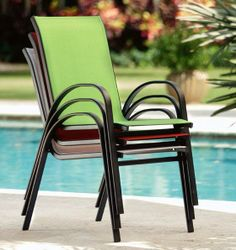Stackable Outdoor Chairs $63 For Set Of Two