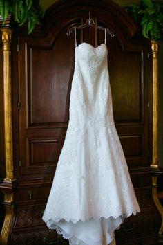 An Elegant Blush and Gold Wedding - Martina Liana wedding dress