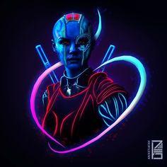 Nebula:Marvel Neon Potraits Painting