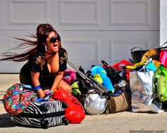 Snooki.....this is what i look like when i travel. I over pack!!