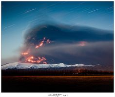 Volcanic ash in Eyjafjallajokull, Iceland by Hallgrimur Gudmundsson